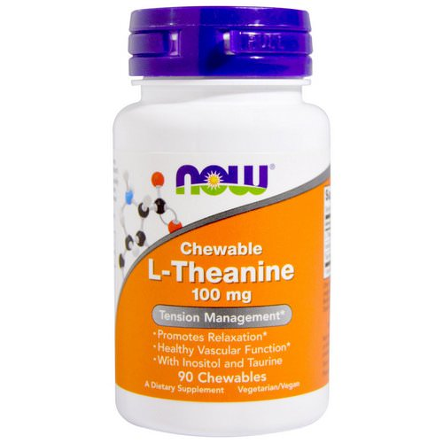 Now Foods, L-Theanine, 100 mg, 90 Chewables Review