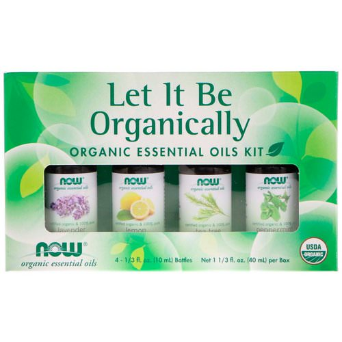 Now Foods, Let It Be Organically, Organic Essential Oils Kit, 4 Bottles, 1/3 fl oz (10 ml) Each Review