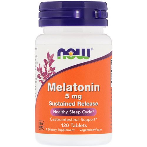 Now Foods, Melatonin, 5 mg, 120 Tablets Review