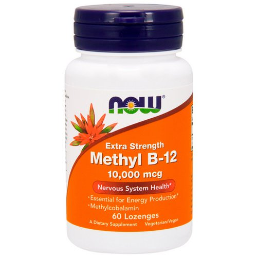 Now Foods, Methyl B-12, Extra Strength, 10,000 mcg, 60 Lozenges Review