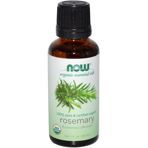 Now Foods, Organic Essential Oils, Rosemary, 1 fl oz (30 ml) Review