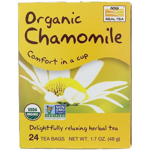 Now Foods, Organic Real Tea, Chamomile, 24 Tea Bags, 2 g Each Review