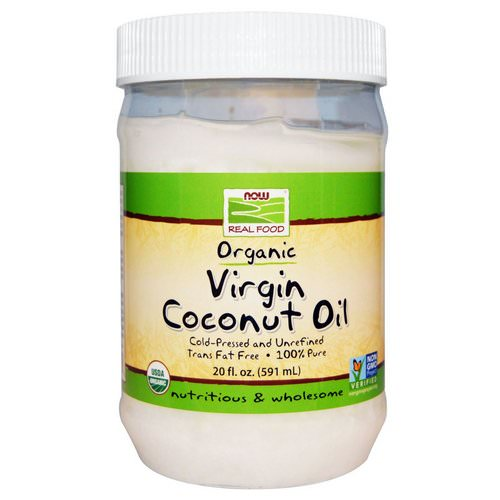 Now Foods, Real Food, Organic Virgin Coconut Oil, 20 fl oz (591 ml) Review