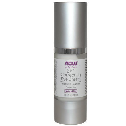 Now Foods, Solutions, 2 in 1 Correcting Eye Cream, 1 fl oz (30 ml) Review
