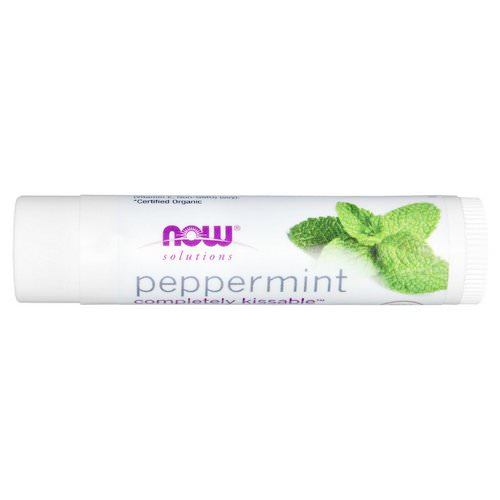 Now Foods, Solutions, Completely Kissable, Organic Lip Balm, Peppermint, 0.15 oz (4.25 g) Review