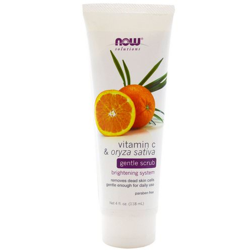 Now Foods, Solutions, Gentle Scrub, Vitamin C & Oryza Sativa, 4 fl oz (118 ml) Review