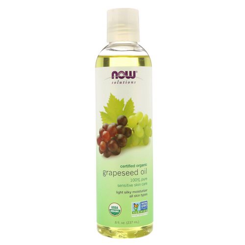 Now Foods, Solutions, Organic Grapeseed Oil, 8 fl oz (237 ml) Review