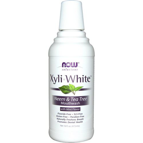 Now Foods, Solutions, XyliWhite Mouthwash, Neem & Tea Tree with Mint, 16 fl oz (473ml) Review
