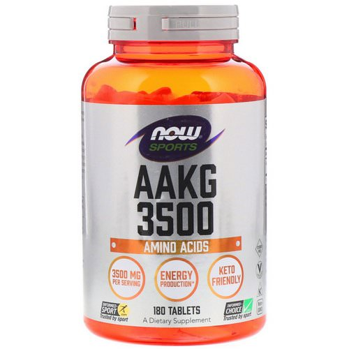 Now Foods, Sports, AAKG 3500, Amino Acids, 180 Tablets Review
