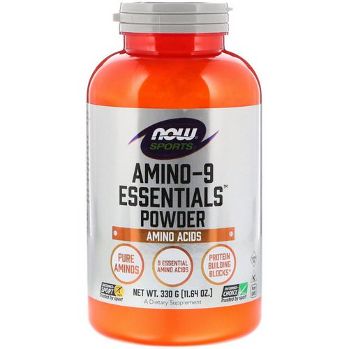 Now Foods, Sports, Amino-9 Essentials Powder, 11.64 oz (330 g) Review