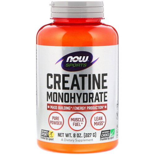 Now Foods, Sports, Creatine Monohydrate, Pure Powder, 8 oz (227 g) Review