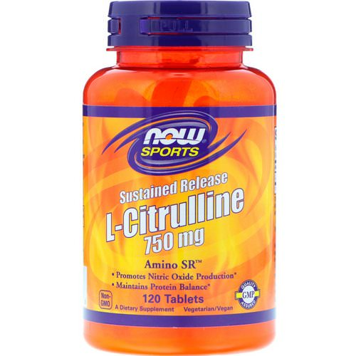 Now Foods, Sports, L-Citrulline, Sustained Release, 750 mg, 120 Tablets Review