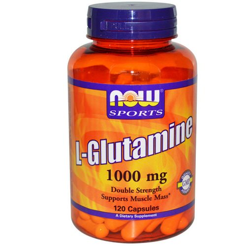 Now Foods, Sports, L-Glutamine, Double Strength, 1,000 mg, 120 Capsules Review