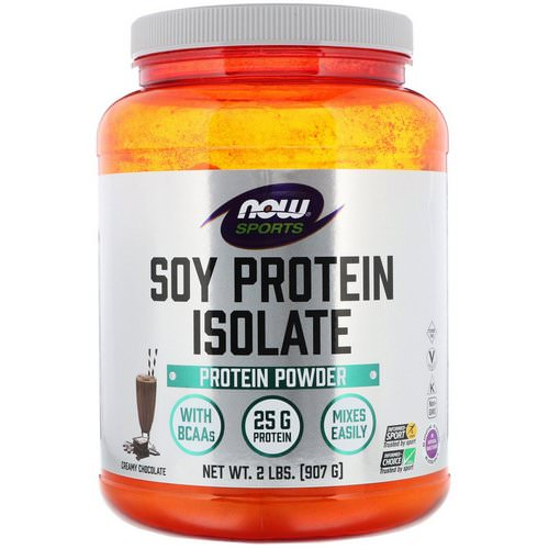 Now Foods, Sports, Soy Protein Isolate, Creamy Chocolate, 2 lbs (907 g) Review