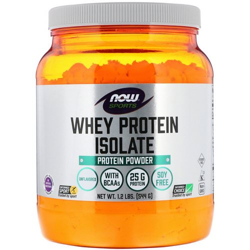 Now Foods, Sports, Whey Protein Isolate, Unflavored, 1.2 lbs (544 g) Review