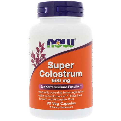 Now Foods, Super Colostrum, 500 mg, 90 Veg Capsules Review