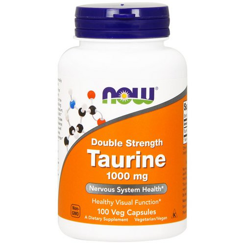 Now Foods, Taurine, Double Strength, 1,000 mg, 100 Veg Capsules Review