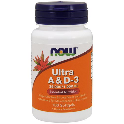 Now Foods, Ultra A & D-3, 25,000/1,000 IU, 100 Softgels Review