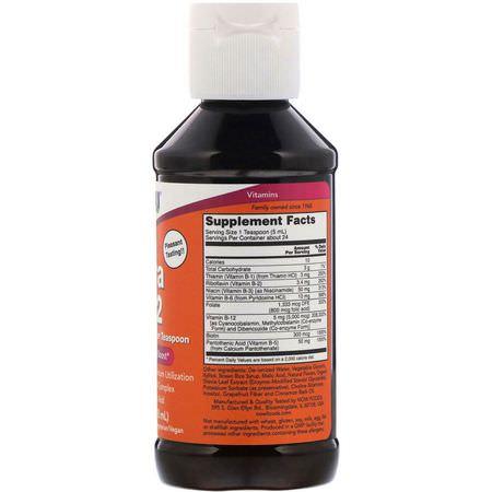 維生素B複合物, 維生素B: Now Foods, Ultra B-12, 5,000 mcg, 4 fl oz (118 ml)
