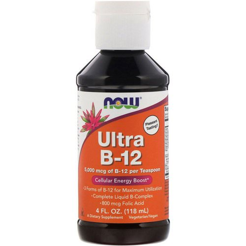 Now Foods, Ultra B-12, 5,000 mcg, 4 fl oz (118 ml) Review