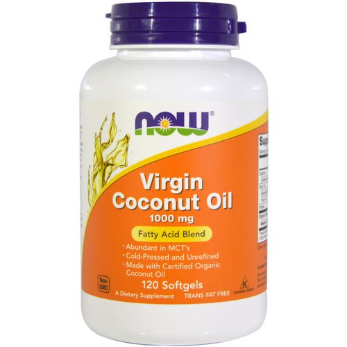 Now Foods, Virgin Coconut Oil, 1000 mg, 120 Softgels Review