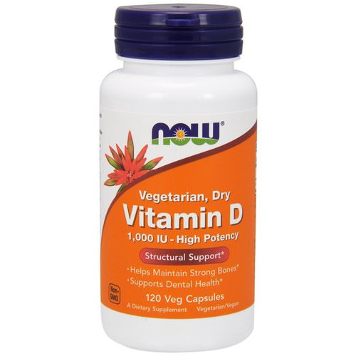 Now Foods, Vitamin D, High Potency, 1,000 IU, 120 Veg Capsules Review