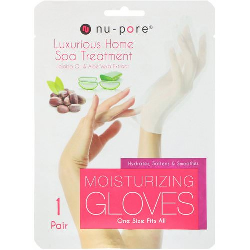 Nu-Pore, Moisturizing Gloves, Jojoba Oil & Aloe Vera Extract, 1 Pair Review