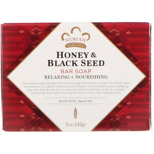 Nubian Heritage, Honey & Black Seed Bar Soap, 5 oz (142 g) Review