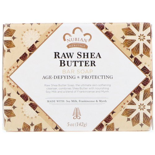 Nubian Heritage, Raw Shea Butter Bar Soap, 5 oz (142 g) Review