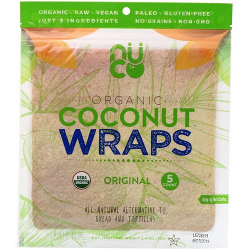 NUCO, Organic Coconut Wraps, Original, 5 Wraps (14 g) Each Review