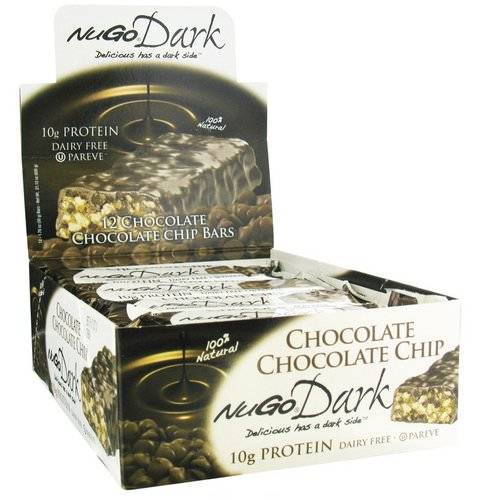 NuGo Nutrition, NuGo Dark, Protein Bars, Chocolate Chocolate Chip, 12 Bars, 1.76 oz (50 g) Each Review