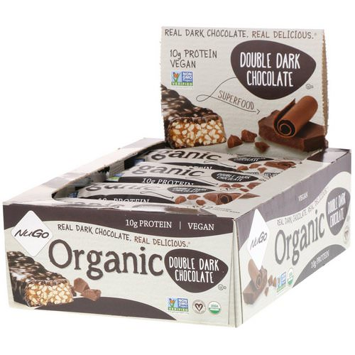 NuGo Nutrition, Organic Protein Bars, Double Dark Chocolate, 12 Bars, 1.76 oz (50 g) Each Review