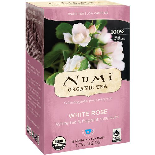 Numi Tea, Organic Tea, White Tea, White Rose, 16 Tea Bags, 1.13 oz (32 g) Review