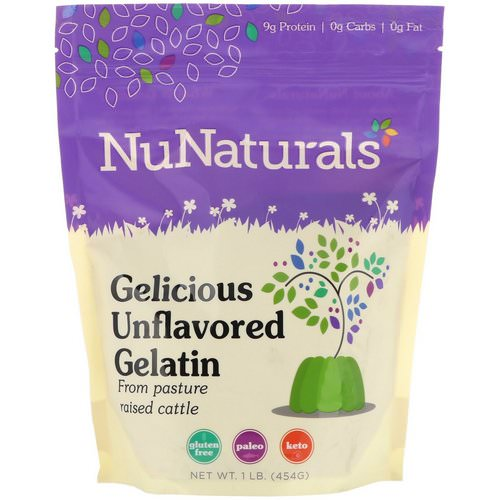 NuNaturals, Gelicious Unflavored Gelatin, 1lb (454 g) Review