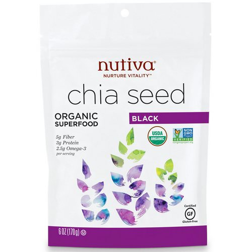 Nutiva, Organic Chia Seed, Black, 6 oz (170 g) Review