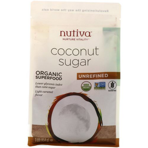 Nutiva, Organic Coconut Sugar, 1 lb (454 g) Review