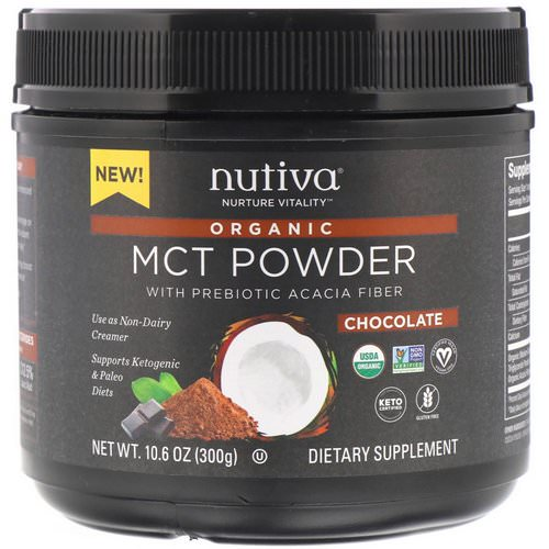 Nutiva, Organic MCT Powder, Chocolate, 10.6 oz (300 g) Review
