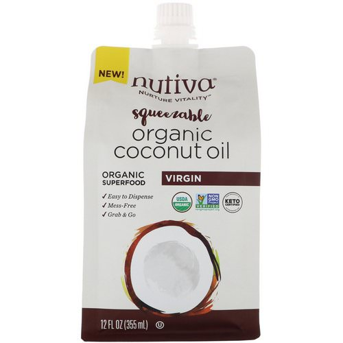 Nutiva, Organic Squeezable, Virgin Coconut Oil, 12 fl oz (355 ml) Review