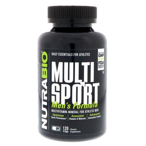 NutraBio Labs, MultiSport Men's Formula, 120 V-Caps Review