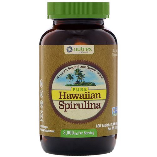 Nutrex Hawaii, Pure Hawaiian Spirulina, 3,000 mg, 180 Tablets Review