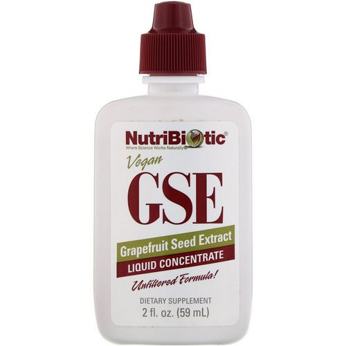 NutriBiotic, GSE, Grapefruit Seed Extract, Liquid Concentrate, 2 fl oz (59 ml) Review