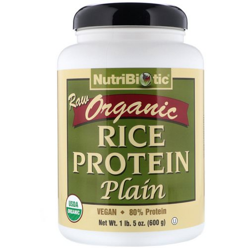 NutriBiotic, Raw Organic Rice Protein, Plain, 1 lb 5 oz (600 g) Review