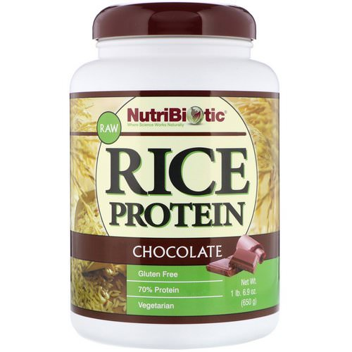 NutriBiotic, Raw Rice Protein, Chocolate, 1.43 lbs (650 g) Review