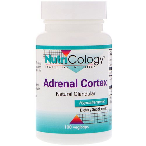 Nutricology, Adrenal Cortex, Natural Glandular, 100 Vegicaps Review