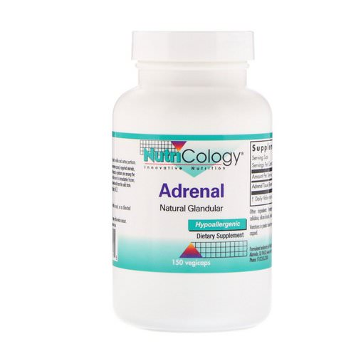 Nutricology, Adrenal, Natural Glandular, 150 Veggie Caps Review