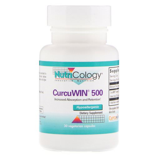 Nutricology, CurcuWin 500, 30 Vegetarian Capsules Review