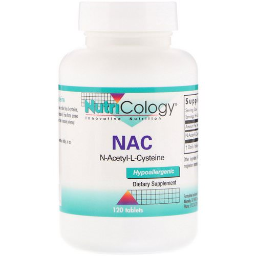 Nutricology, NAC, N-Acetyl-L-Cysteine, 120 Tablets Review