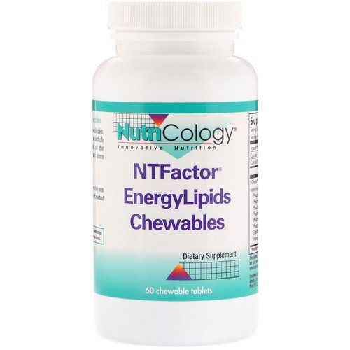 Nutricology, NTFactor EnergyLipids Chewables, 60 Chewable Tablets Review