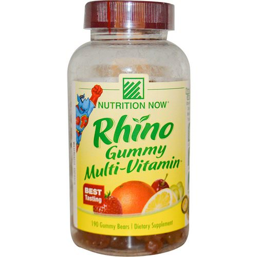 Nutrition Now, Rhino Gummy Multi-Vitamin, 190 Gummy Bears Review