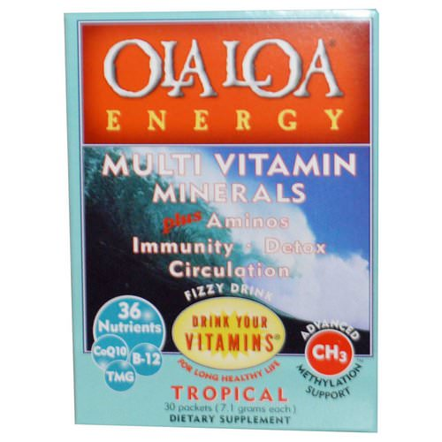 Ola Loa, Energy, Multi Vitamin Minerals, Tropical, 30 Packets, (7.1 g) Each Review